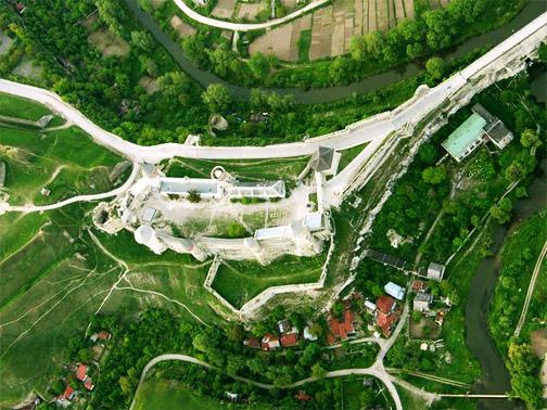 Каменец-Подольский замок. Вид с неба