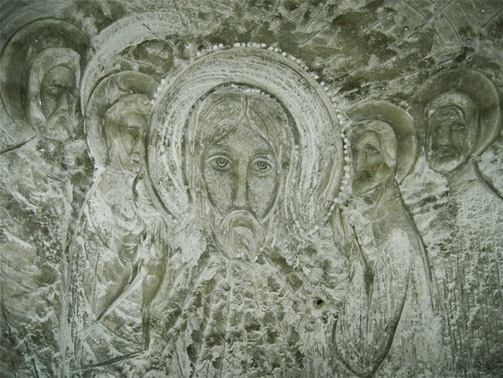 Образы на стене соляной шахты
