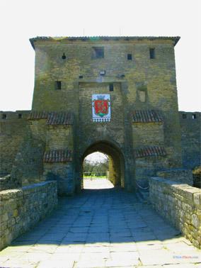 Главные (Килийские) ворота крепости с гербом города