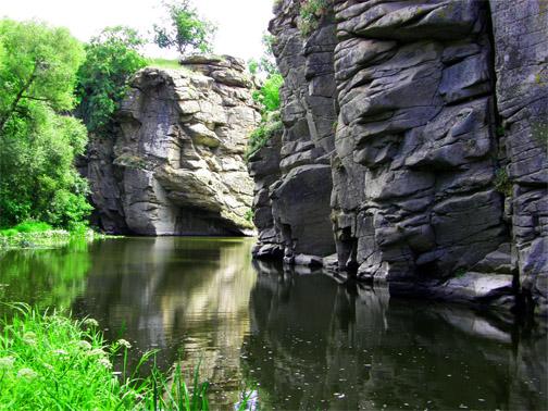 Маленький фьорд в сердце Украины - Букский каньон
