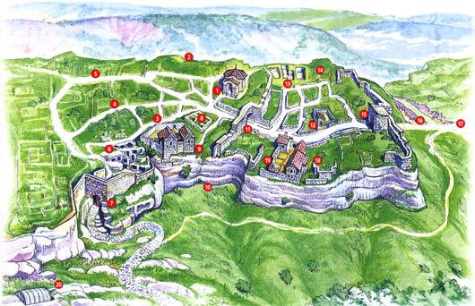 План-карта пещерного города Чуфут-Кале