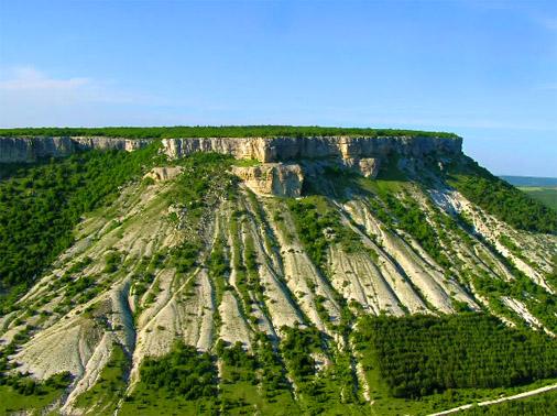 Пещерный город Чуфут-Кале. Вид с птичьего полета