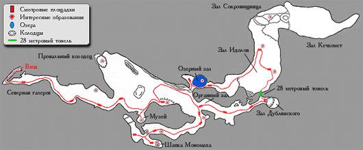 План пещеры Эмине-Баир-Хосар
