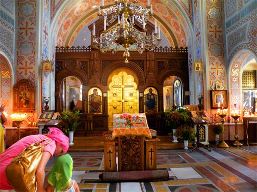 Форосская церковь. Внутри церкви. Церковь Воскресения Христова