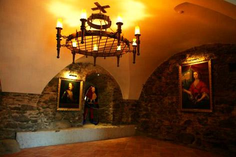 Подземелье Ужгородского замка. Дигустационный зал