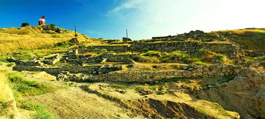 Останки древнего города Пантикапей