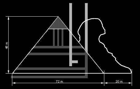 Эскиз пирамиды, обнаруженной близ города Севастополь