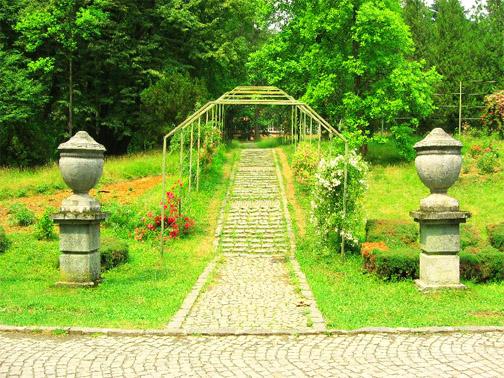 Парк в охотничем замке Шенборнов
