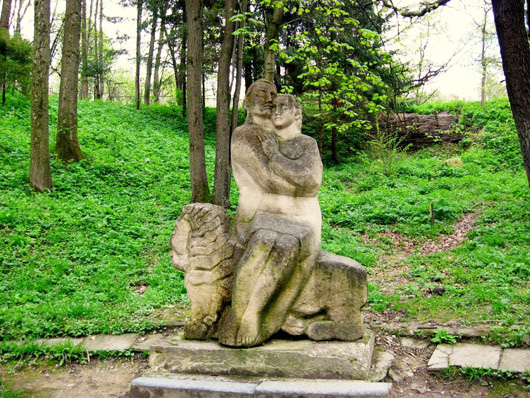 Трускавец. Парк с памятниками