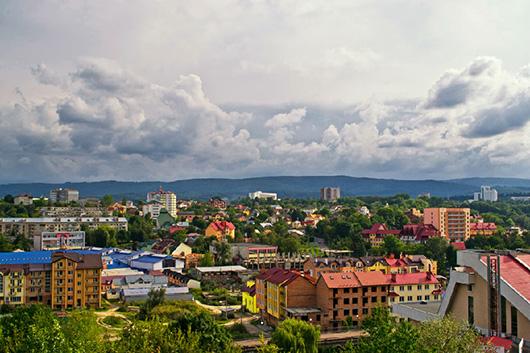 Трускавец. Панорама города