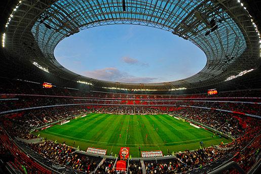 Внутри стадиона Донбасс Арена