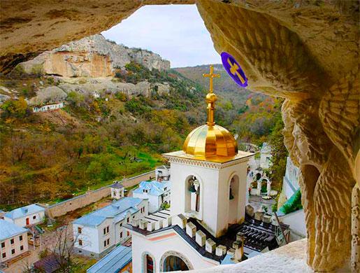 Вид с пещеры монастыря