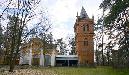 Водонапорная башня в усадьбе Натальевка
