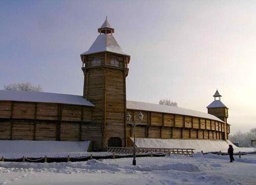 Батуринская крепость зимой